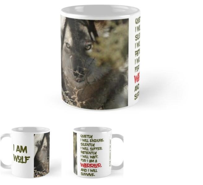 I Am Wolf Quietly I Will Endure Silently I Will Suffer  Mug Wolf Mug
